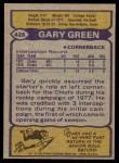 1979 Topps #426  Gary Green  Back Thumbnail