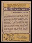 1979 Topps #81  Troy Archer  Back Thumbnail