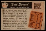 1955 Bowman #233  Bill Serena  Back Thumbnail