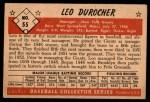 1953 Bowman #55  Leo Durocher  Back Thumbnail