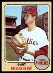 1968 Topps #448  Gary Wagner  Front Thumbnail