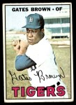 1967 Topps #134  Gates Brown  Front Thumbnail