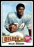 1975 Topps #166  Willie Rodgers  Front Thumbnail