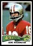 1975 Topps #165  Gene Washington   Front Thumbnail