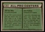 1975 Topps #204   -  Jeff Van Note / Jack Rudnay All-Pro Centers Back Thumbnail