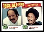 1975 Topps #223   -  Cliff Harris / Jack Tatum  All-Pro Safeties Front Thumbnail