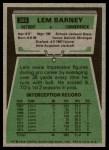1975 Topps #365  Lem Barney  Back Thumbnail