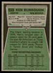 1975 Topps #413  Ken Burrough  Back Thumbnail