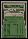 1975 Topps #53  Fred Cox  Back Thumbnail