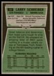 1975 Topps #58  Larry Schreiber  Back Thumbnail