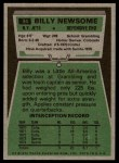 1975 Topps #94  Billy Newsome  Back Thumbnail