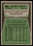 1975 Topps #14  Jackie Smith  Back Thumbnail
