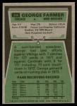 1975 Topps #346  George Farmer  Back Thumbnail