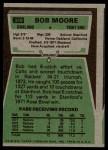 1975 Topps #349  Bob Moore  Back Thumbnail