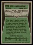 1975 Topps #406  Ken Grandberry  Back Thumbnail