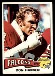 1975 Topps #384  Don Hansen  Front Thumbnail