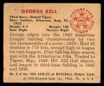 1950 Bowman #8  George Kell  Back Thumbnail