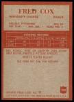 1965 Philadelphia #104  Fred Cox   Back Thumbnail