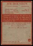 1965 Philadelphia #35  Jim Houston  Back Thumbnail