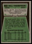 1975 Topps #104  Bill Thompson  Back Thumbnail