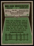 1975 Topps #150  John Brockington  Back Thumbnail