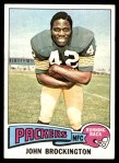 1975 Topps #150  John Brockington  Front Thumbnail
