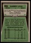 1975 Topps #237  Garry Lyle  Back Thumbnail
