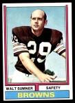 1974 Topps #36  Walt Sumner  Front Thumbnail