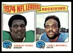 1975 Topps #3   -  Charley Young / Lydell Mitchell Receiving Leaders Front Thumbnail