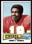 1975 Topps #340  Emmitt Thomas  Front Thumbnail