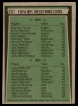 1975 Topps #3   -  Charley Young / Lydell Mitchell Receiving Leaders Back Thumbnail