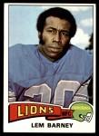 1975 Topps #365  Lem Barney  Front Thumbnail