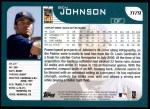 2001 Topps Traded #179 T Ben Johnson  Back Thumbnail