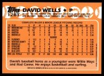 2001 Topps Traded #131 T  -  David Wells 88  Back Thumbnail
