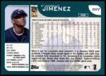 2001 Topps Traded #177 T D'Angelo Jimenez  Back Thumbnail