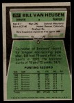 1975 Topps #267  Bill Van Heusen  Back Thumbnail
