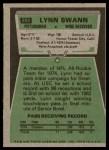 1975 Topps #282  Lynn Swann  Back Thumbnail