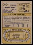 1974 Topps #403  Charlie Hall  Back Thumbnail