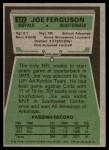 1975 Topps #327  Joe Ferguson  Back Thumbnail