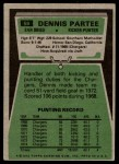 1975 Topps #68  Dennis Partee  Back Thumbnail