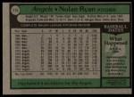 1979 Topps #115  Nolan Ryan  Back Thumbnail