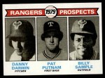 1979 Topps #713   -  Danny Darwin / Pat Putnam / Billy Sample Rangers Prospects   Front Thumbnail