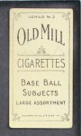 1910 T210-3 Old Mill Texas League  Blanding  Back Thumbnail