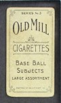 1910 T210-3 Old Mill Texas League  Deardorf  Back Thumbnail
