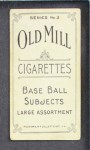 1910 T210-3 Old Mill Texas League  Dale  Back Thumbnail