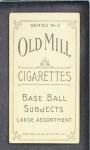 1910 T210-2 Old Mill Virginia League  Bandy  Back Thumbnail