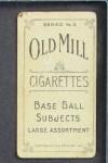 1910 T210-3 Old Mill Texas League  Stadeli  Back Thumbnail
