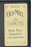 1910 T210-3 Old Mill Texas League  Blue  Back Thumbnail