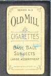 1910 T210-3 Old Mill Texas League  Ens  Back Thumbnail