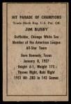 1952 Berk Ross  Jim Busby  Back Thumbnail